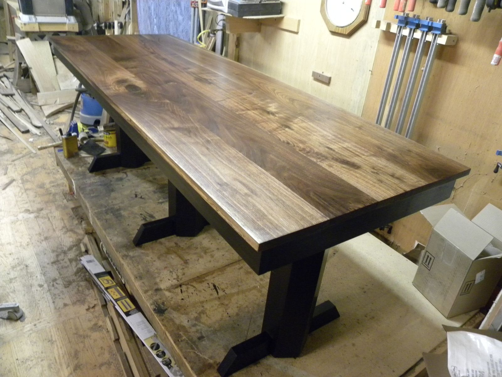 black walnut kitchen table island small hand made desk by design47 custommade