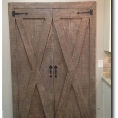 Farmhouse Kitchen Lighting How To Decorate Cabinets Custom Barn Pantry Doors (pair) By Tennesseebarndoors ...