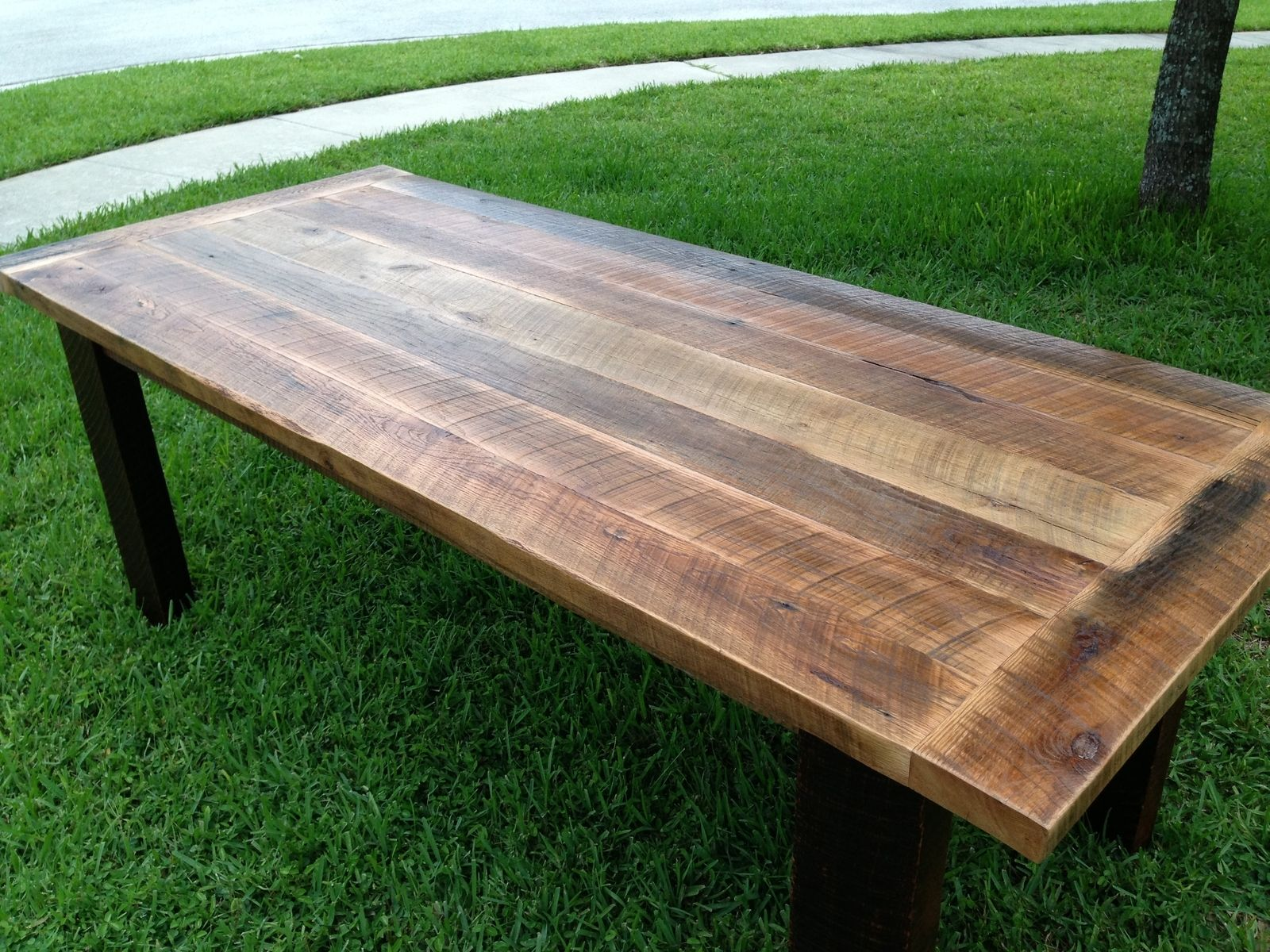 Custom Reclaimed Oak Dining Table By Fama Creations, LLC
