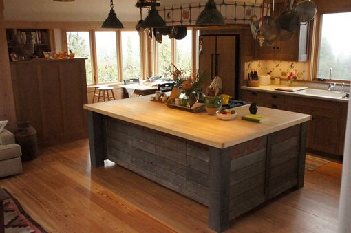 Hand Crafted Rustic Kitchen Island by Atlas Stringed