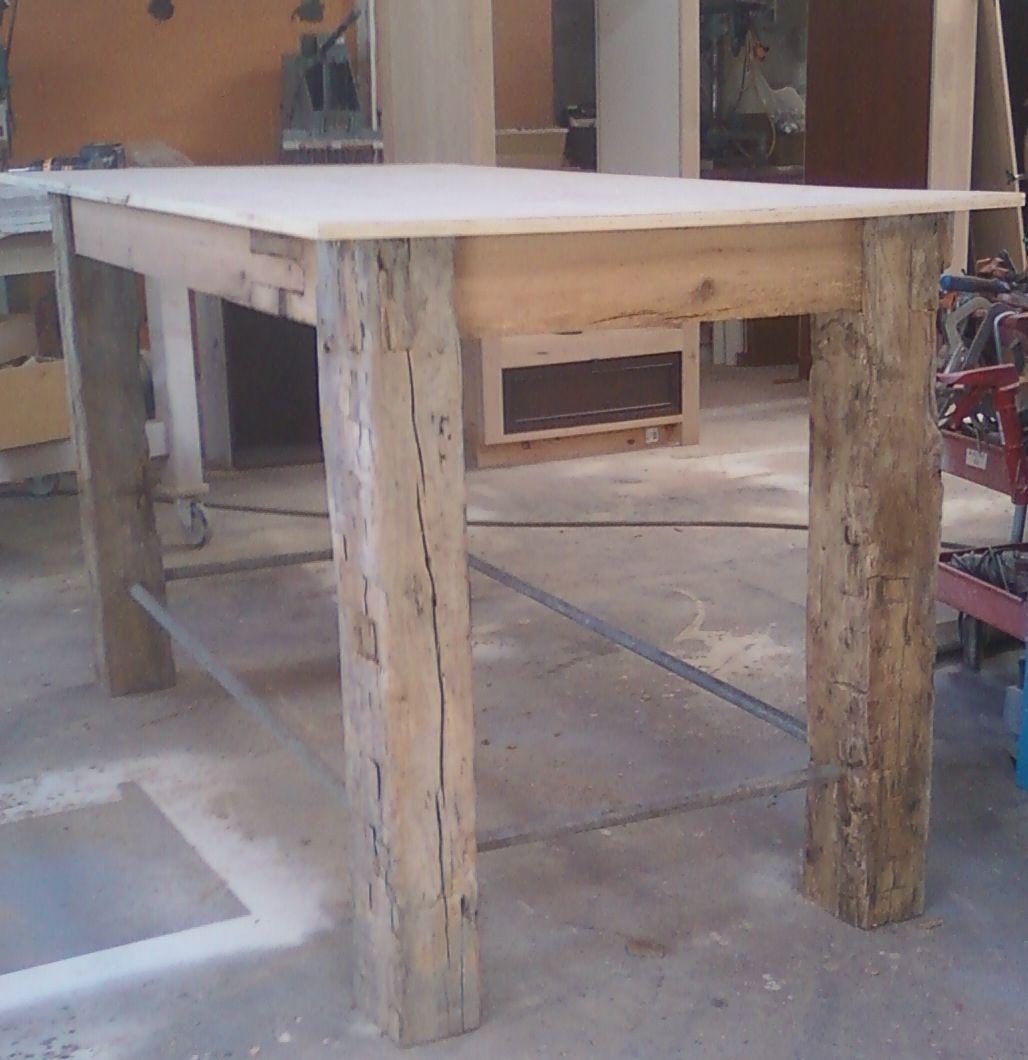 Handmade Rustic Outdoor Table by Santini Custom Furniture