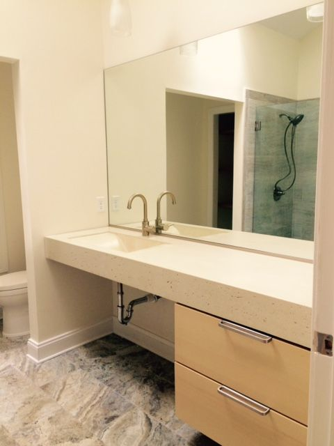 Hand Crafted Concrete Trough Bathroom Sink by Crump and Kwash Manufacturing LLC  CustomMadecom