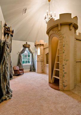 Custom Castle Bunk Bed Queen Size by Clark Fine Furniture