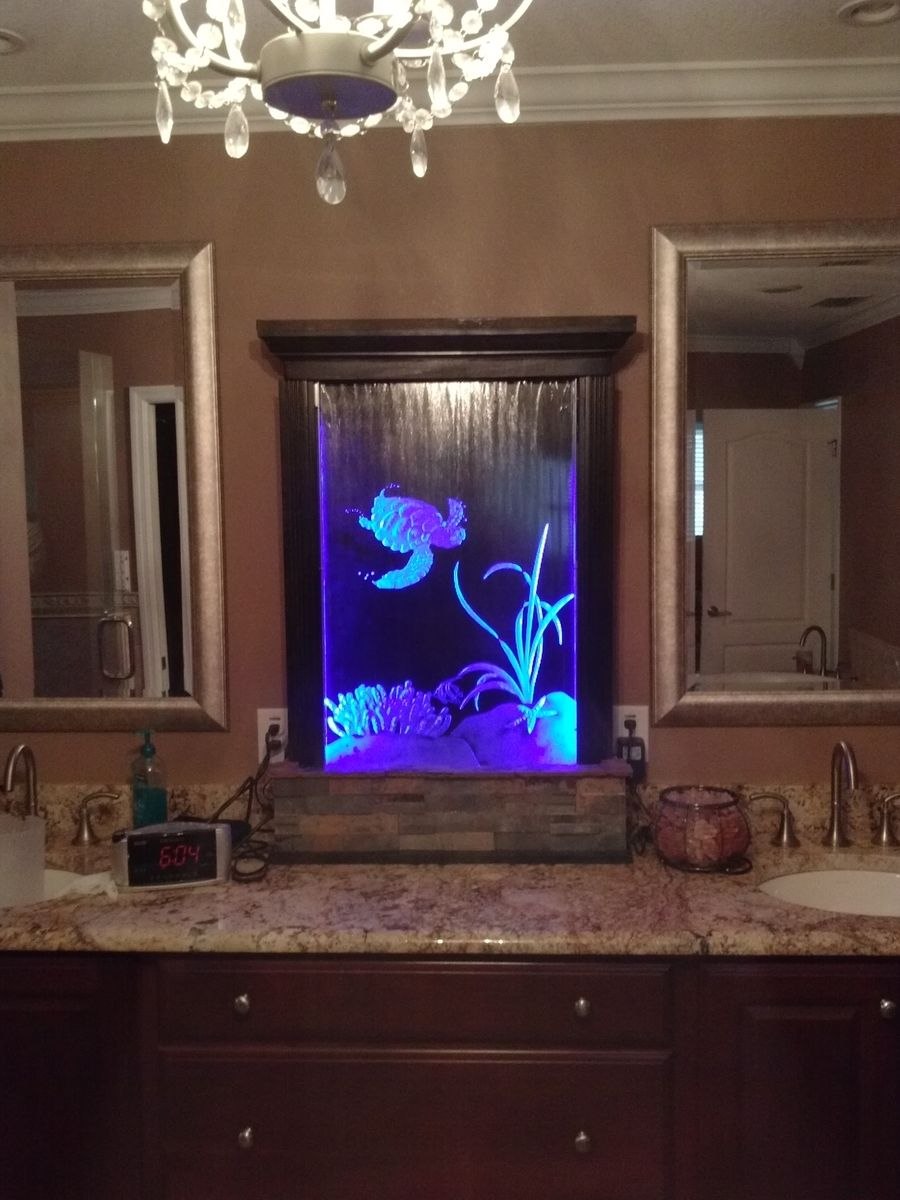 Hand Made Etched Glass Water Fountains Medium To Large by