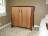 Custom Made Cherry & Birch Storage Cabinet by Shoup ...