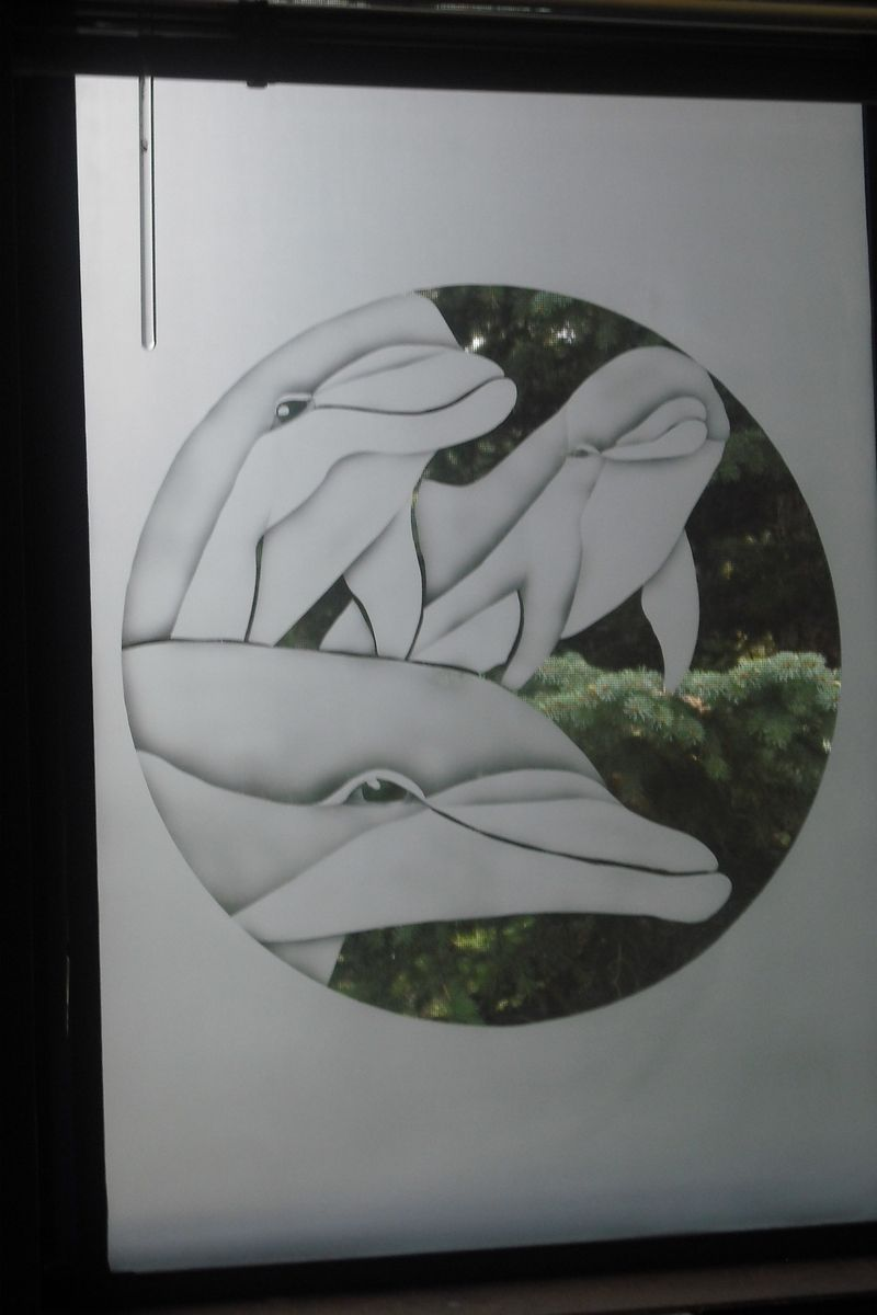 Custom Made Framed Etched Glass For Walls Or Windows