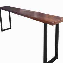 How To Make A Sofa Table Top Simmons Reclining Buy Custom Made Walnut And Steel Console Order From Blowing Rock Woodworks Custommade Com