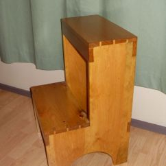 Living Room Set Leather Best Neutral Paint Colors For Behr Custom Dovetail Shaker Step Stool By The Frugal Woodworker ...