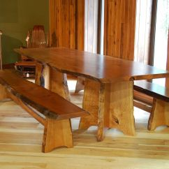 Bedroom Chair M&s Hydraulic Racing Simulator Handmade Cherry Dining Table And Benches With Live Edge By