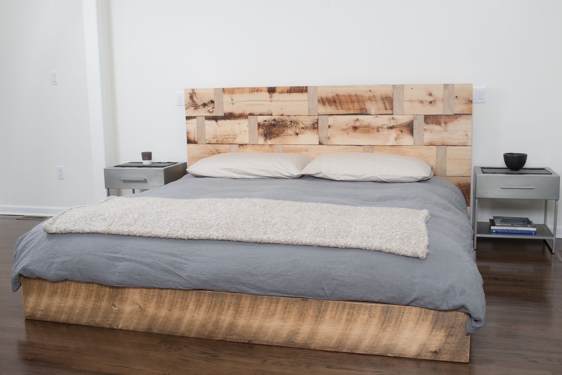 Hand Made Reclaimed Wood Platform Bed By RHG Architecture