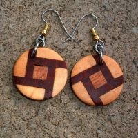 Custom Wood Earrings Of Poplar, Mahogany And Rosewood ...