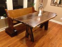 Buy Handmade Live Edge Counter Height Red Elm Table With ...