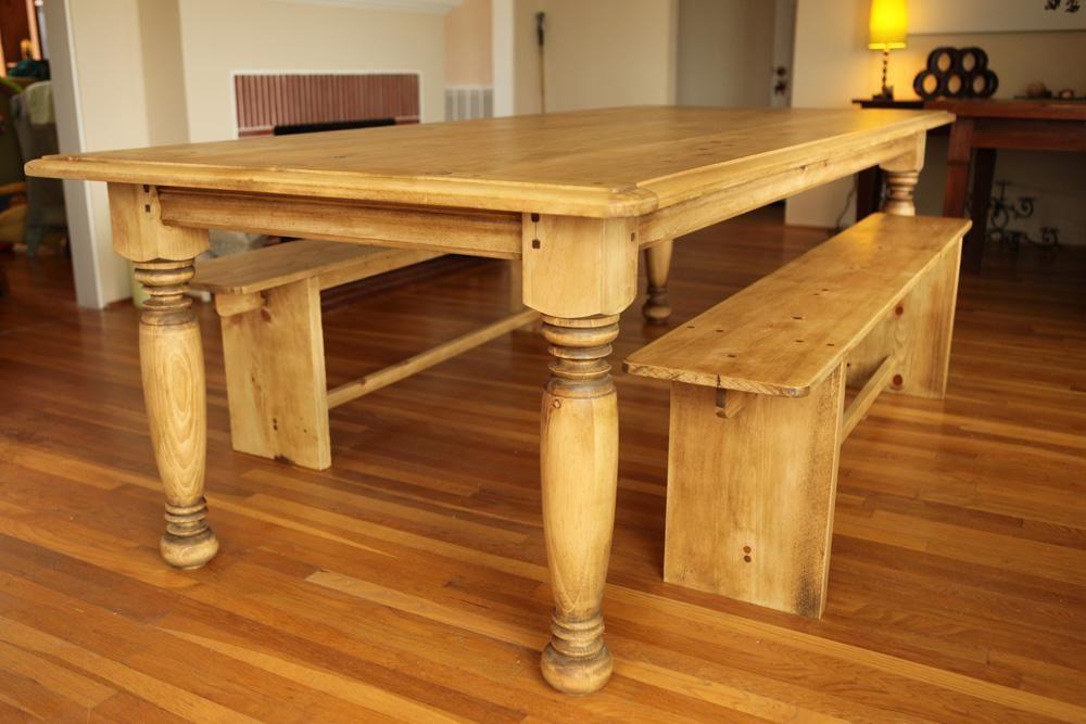 kitchen table legs delta sinks custom made farm w hand turned by farmhouse