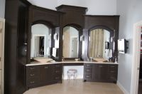 Handmade Custom Master Bath Cabinets by Jr's Custom