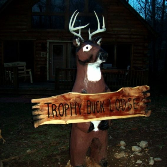 what are pool chairs made out of home goods furniture custom chainsaw carving deer by we make totem poles | custommade.com