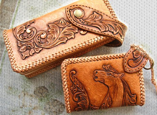 Buy Custom Hand Tooled Hand Carved Big Horse Round