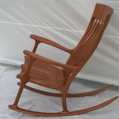 Handmade Rocking Chairs Card Table And Padded Cherry Chair By Wood In Motion Custommade Com Custom Made