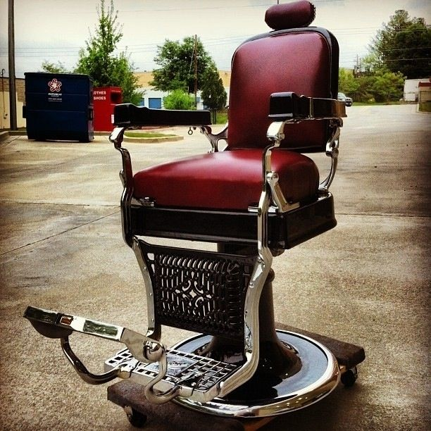 Custom Made 1920S Koken Barber Chair Restoration by