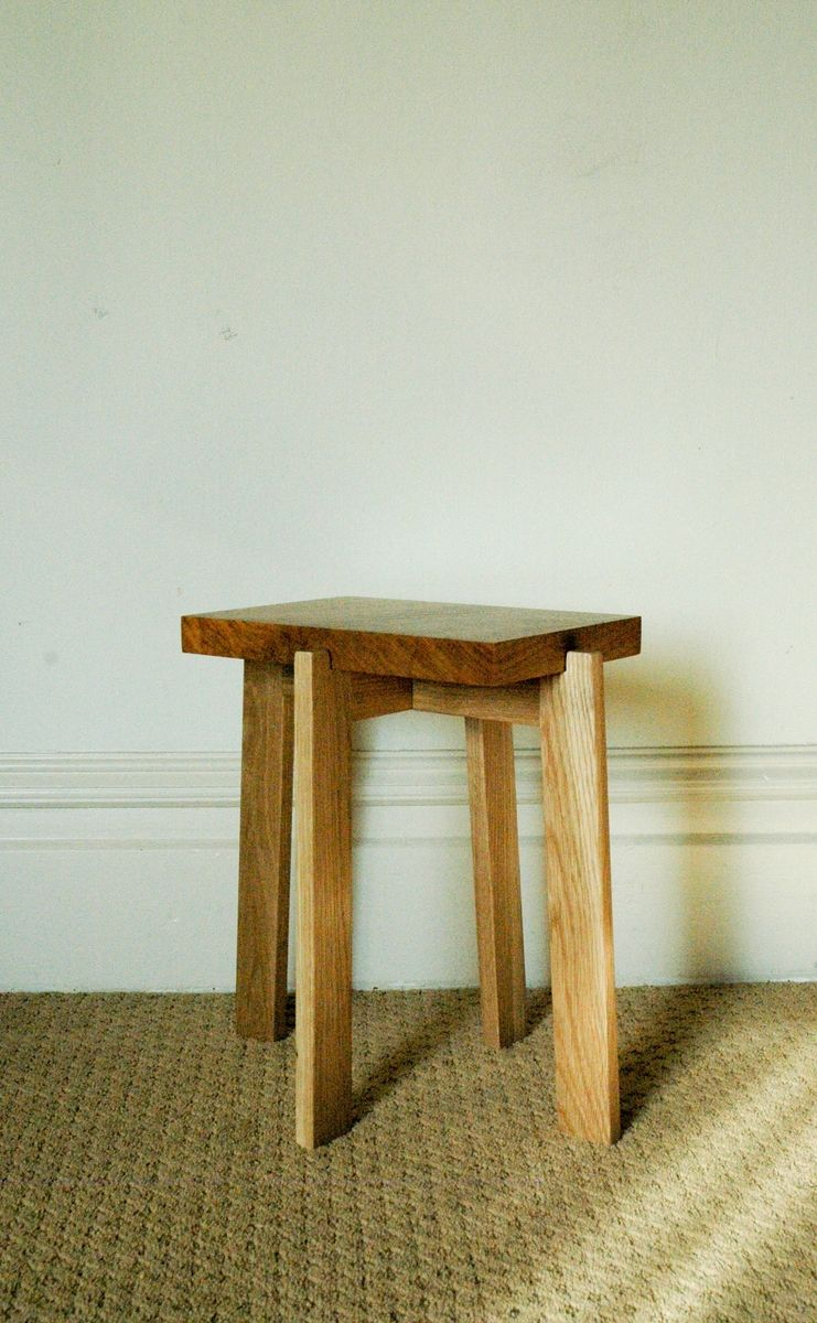 Hand Crafted Japanese Inspired Collapsible End Table By SAWN Custom Woodwork