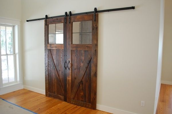 Hand Made Rustic Barn Doors Made From Reclaimed Lumber By