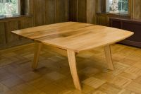 Handmade Red Oak Dining Table by Fredric Blum Design ...