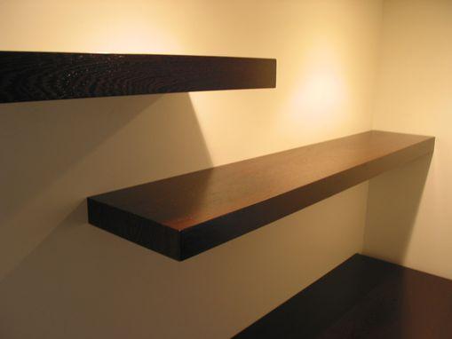 Custom Wenge Desk With Floating Shelves by Earl Kelly