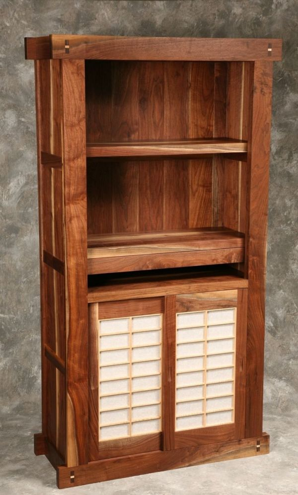 Hand Made Japanese Hondana Bookcase by BHollandCo