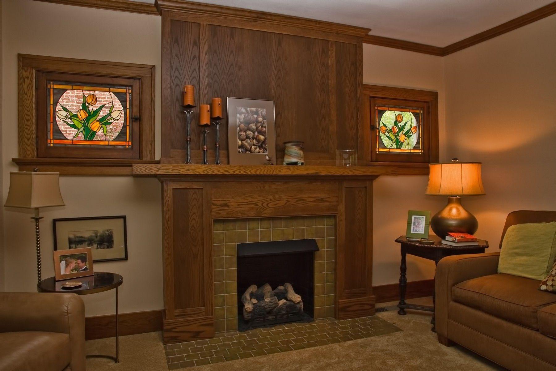 Custom Oak Arts Amp Crafts Mantel By Haas Distinctive