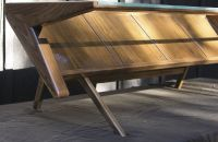 Hand Crafted Mid Century Modern Coffee Table With Glass