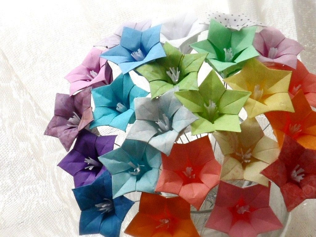Origami Paper Flower Bouquet By