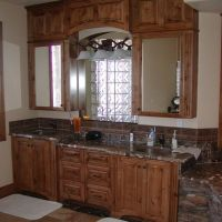 Hand Crafted Knotty Alder Custom Made Kitchen Cabinets ...