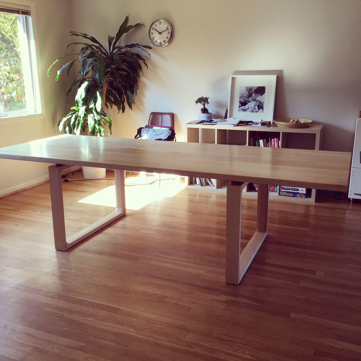 Modern Minimalist Wood Dining Table Novocom Top