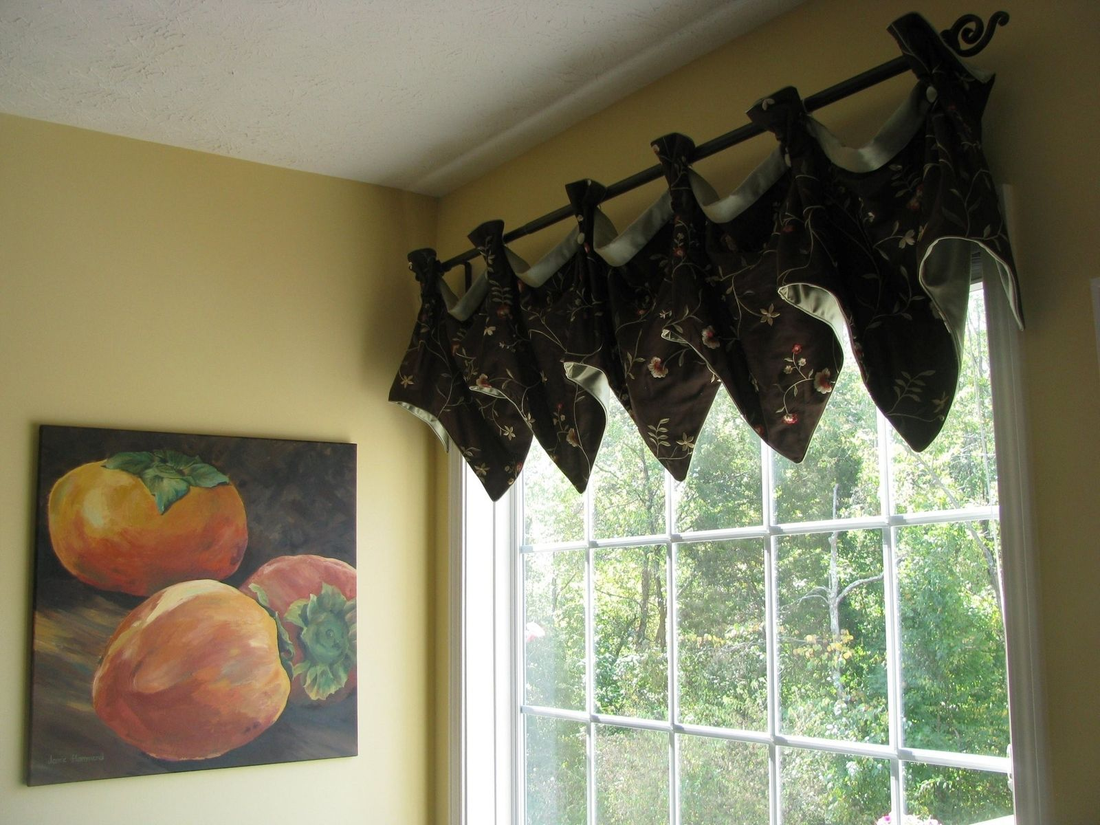 Hand Crafted Breakfast Area Window Treatment Valance By The