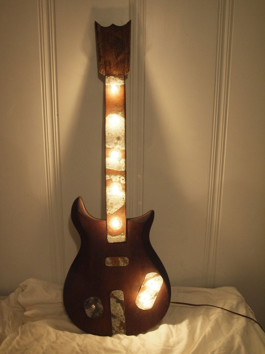 Hand Crafted Light Fixture Guitar Repurposed Vintage 1963