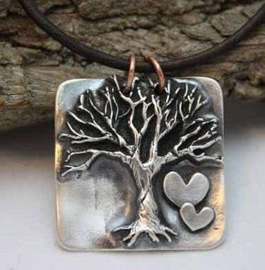 Hand Made Fine Silver Mixed Metals Tree Necklace By Nana