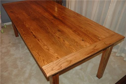 Custom Solid Red Oak Farm Table By Short Mtn Wood Works