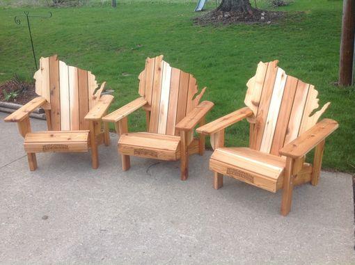 Handmade Cedar Adirondack Wisconsin Chairs With