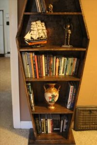 Buy a Hand Made Coffin Bookcase, made to order from ...