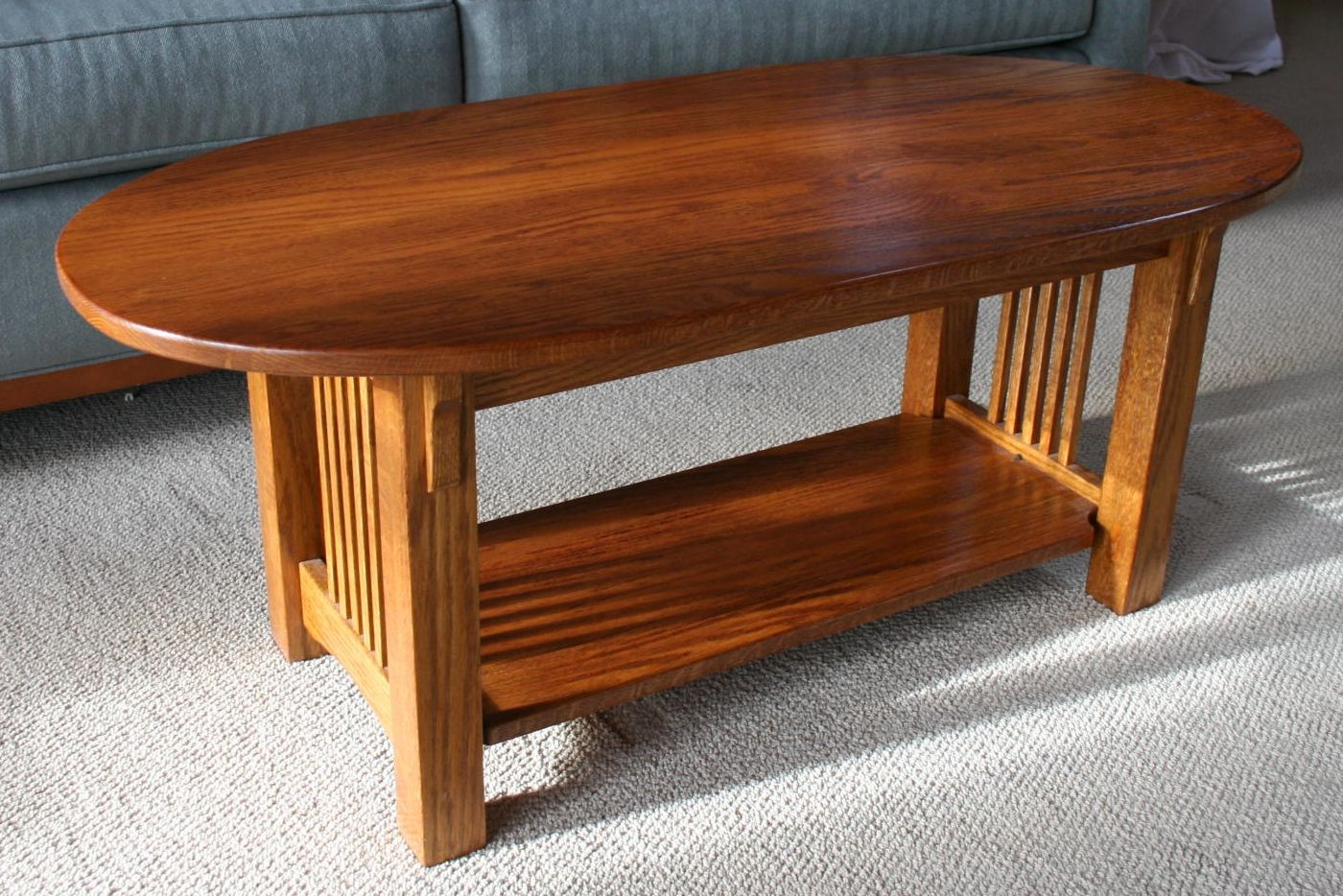 mission style oak sofa table vinyl plastic covers handmade coffee by living forest designs