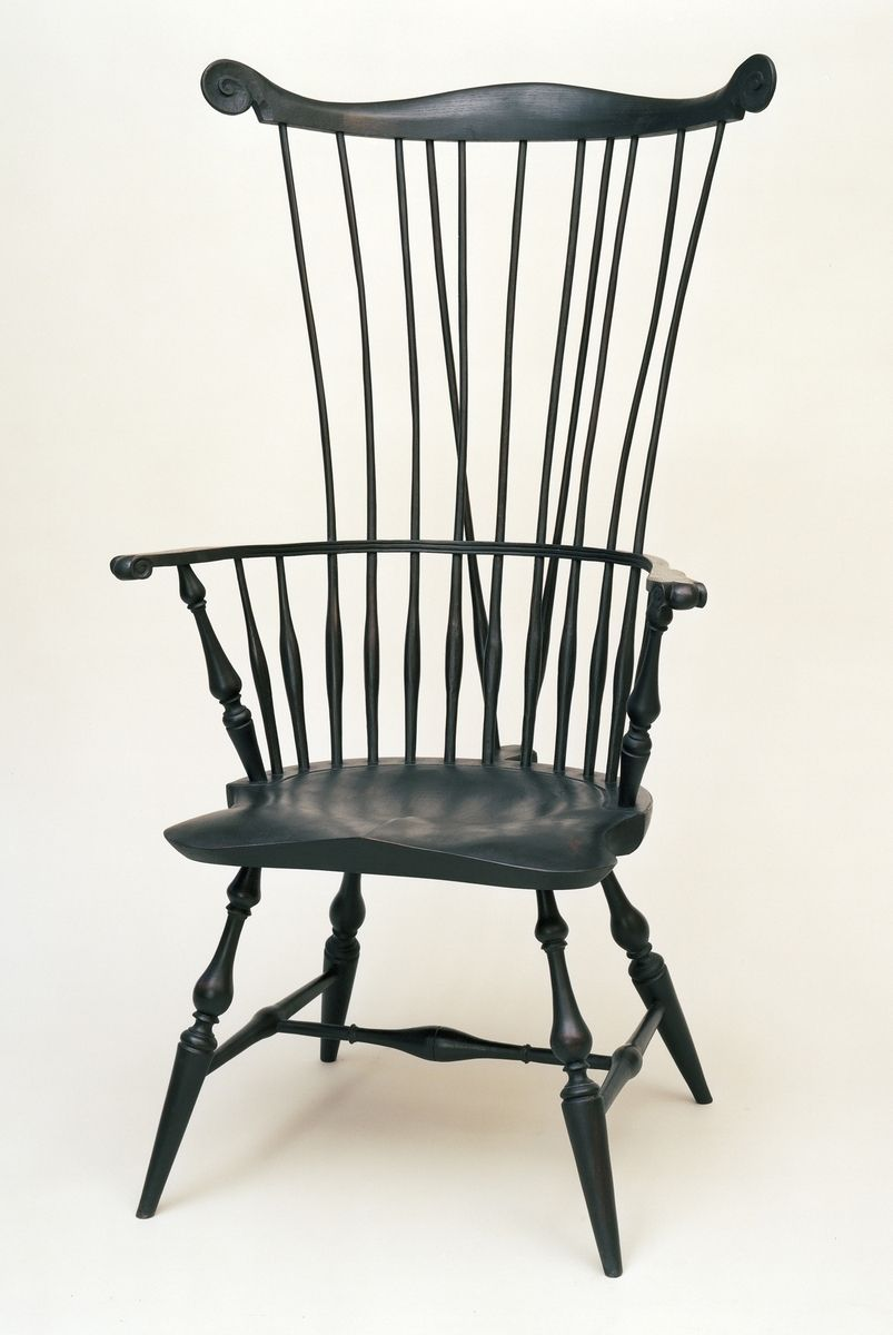 Custom Made Braced Comb Back Windsor Chair by Strathamwood