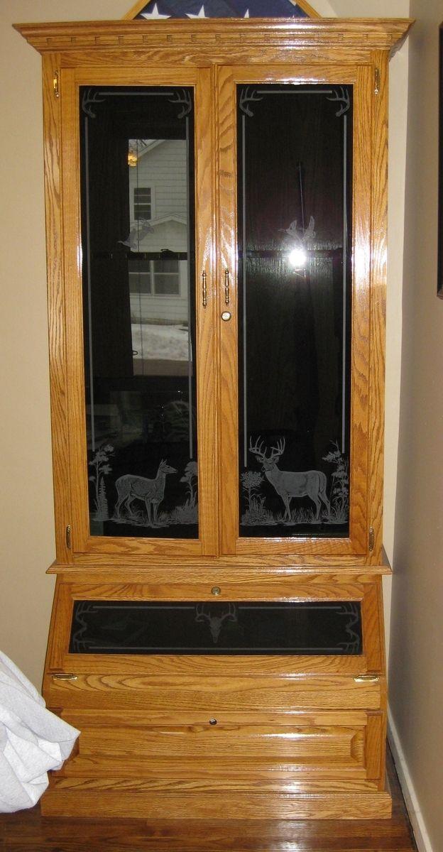 Hand Made Oak Gun Cabinet by Flads Furniture  CustomMadecom
