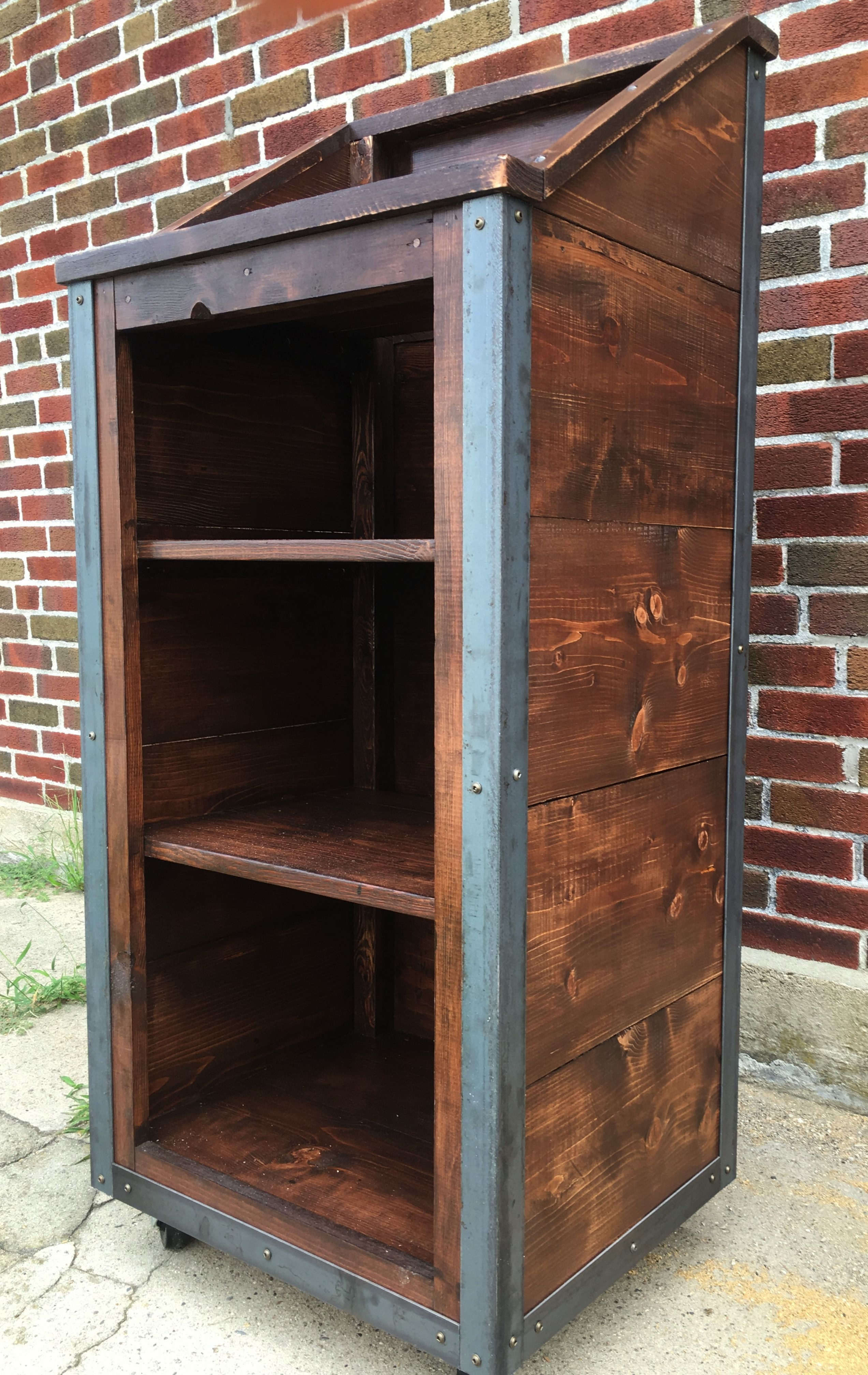 Hand Crafted Rustic Industrial Reclaimed Wood Hostess Host