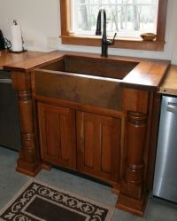 Handmade Cherry Sink Cabinet With Walnut Top And ...