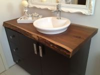 Hand Made Live Edge Black Walnut Bathroom Countertop by ...