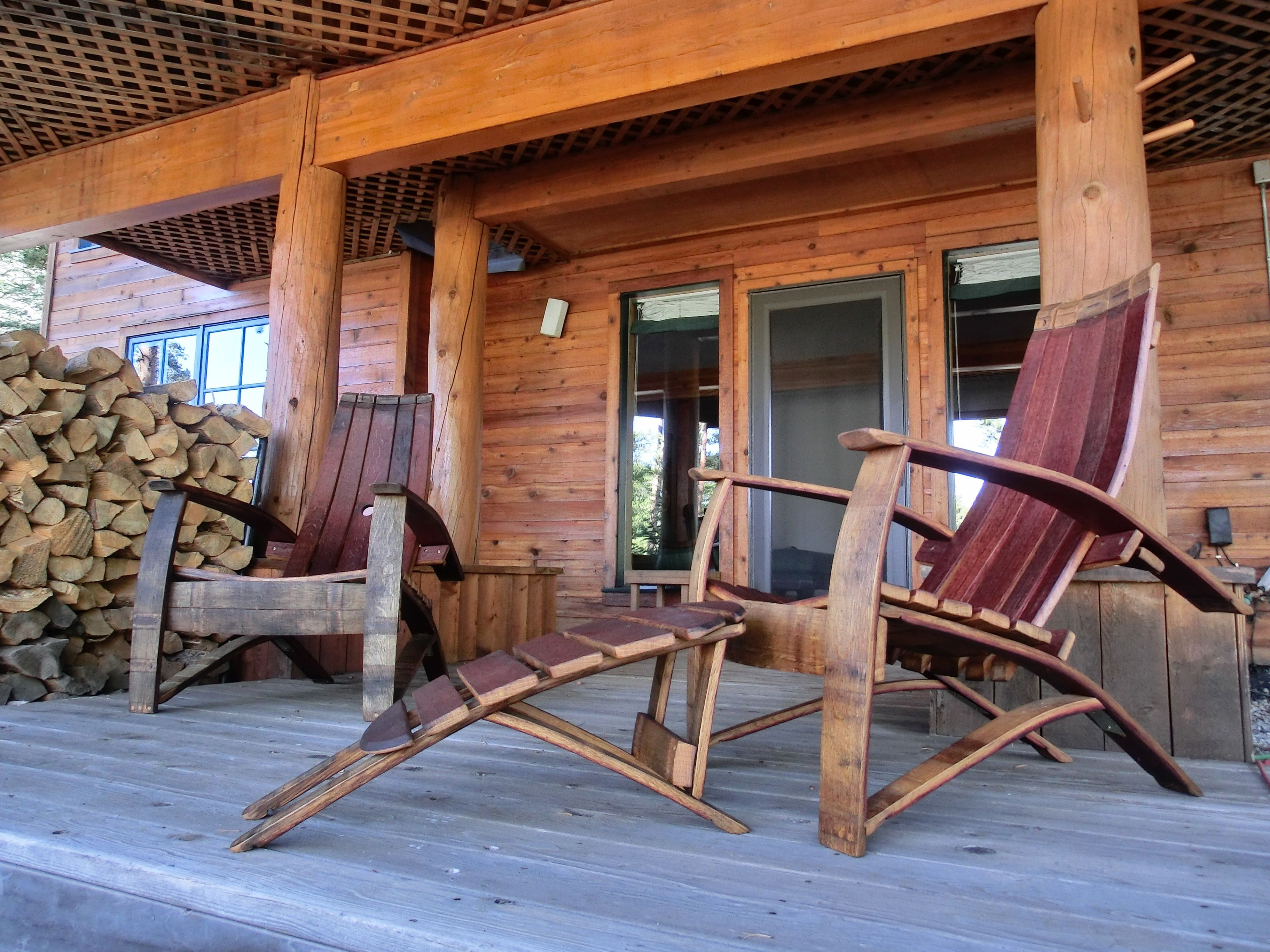 barrel stave adirondack chair plans outside tables and chairs for restaurants buy a handmade lillian wine whiskey made custom
