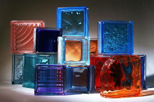 Custom Made Colored Glass Block For Windows Showers And