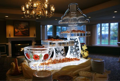 Custom Made Seafood Display Ice Sculptures by Art Below