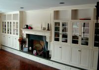 Custom Display Cabinetry With Fireplace Surround by Hudson ...