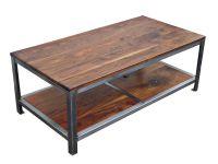 Custom Made Walnut Steel Coffee Table by Kowalski Wood ...