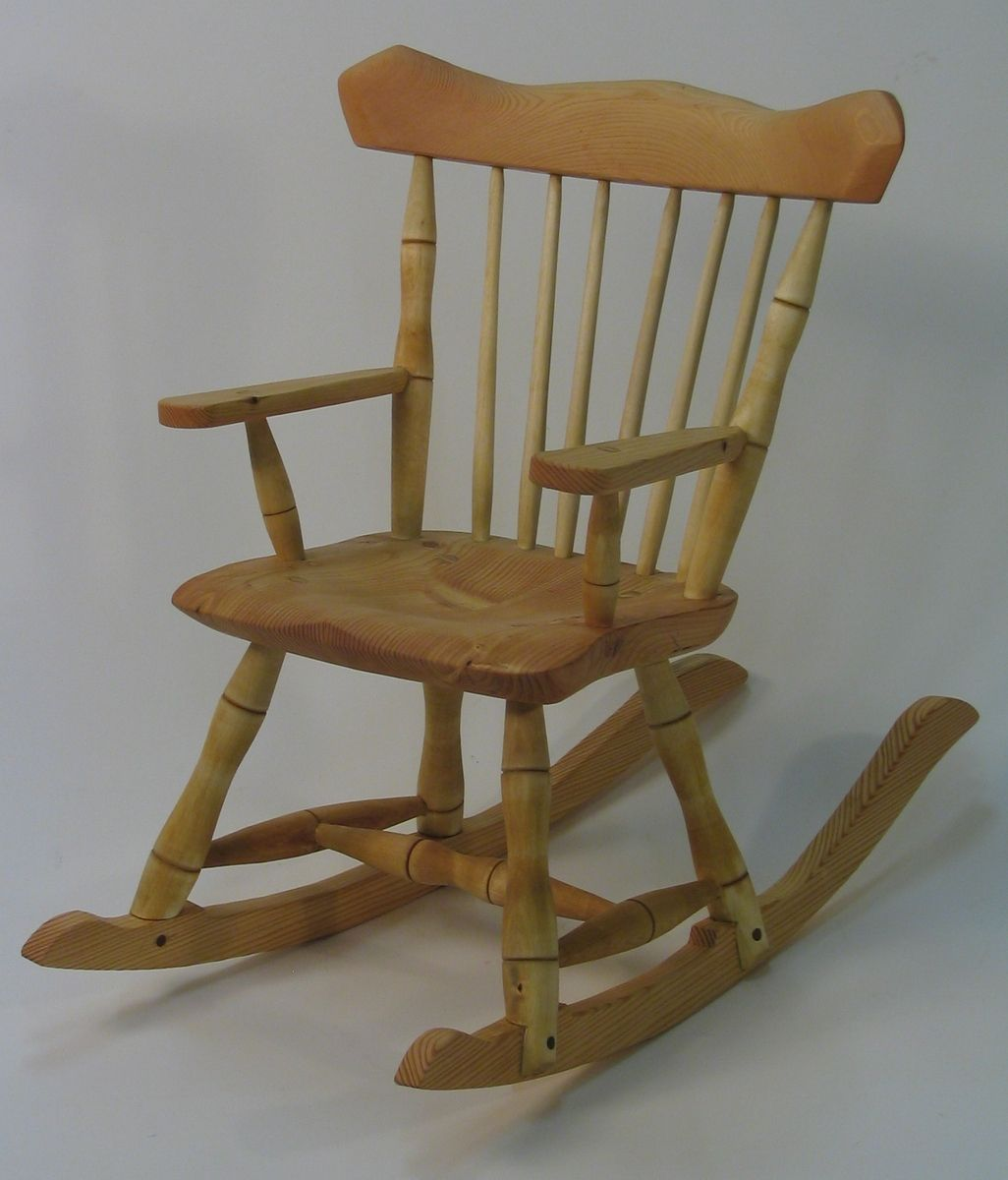 Custom Rocking Chairs Hand Crafted Child 39s Windsor Rocking Chair By Silvertree